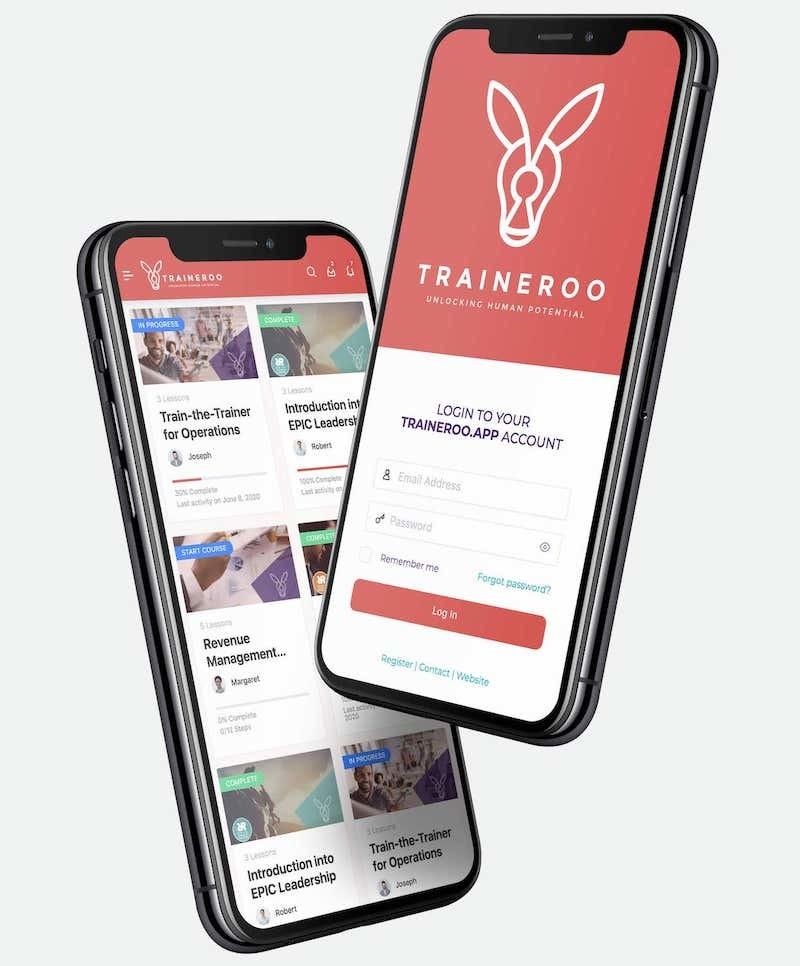 Traineroo Social Mobile eLearning Platform
